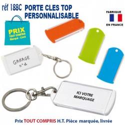 PORTE CLES TOP PERSONNALISABLE REF 188 C 188 C PORTE CLES PLASTIQUE 1,05 €