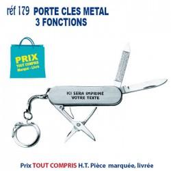PORTE CLES METAL 3 FONCTIONS REF 179 179 PORTE CLES EN METAL 0,79 €