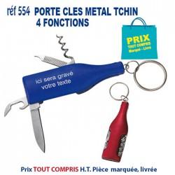 PORTE CLES METAL TCHIN 4 FONCTIONS REF 554 554 PORTE CLES EN METAL 0,97 €