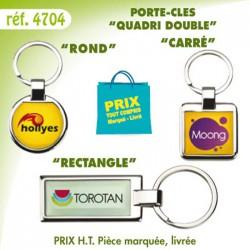 PORTE CLES METAL QUADRI DOUBLE REF 4704 4704 PORTE CLES EN METAL 1,21 €