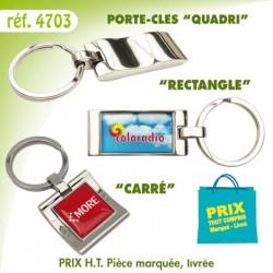 PORTE CLES METAL QUADRI REF 4703 4703 PORTE CLES EN METAL 1,21 €