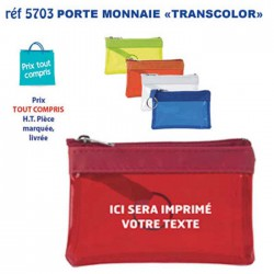 PORTE MONNAIE TRANSCOLOR REF 5703 5703 PORTE MONNAIE 0,60 €