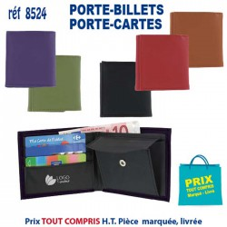 PORTE BILLETS PORTE CARTES REF 8524 8524 PORTEFEUILLE - PORTE BILLETS 1,92 €