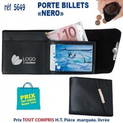 PORTE BILLETS NERO REF 5649 5649 PORTEFEUILLE - PORTE BILLETS 1,16 €