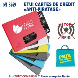 ETUI RIGIDE CARTE DE CREDIT ANTI PIRATAGE 8749 8749 ETUIS PORTE CARTES DE CREDIT 0,57 €