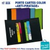 PORTE CARTES COLOR ANTI PIRATAGE REF 8606 8606 ETUIS PORTE CARTES DE CREDIT 3,59 €