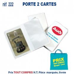 PORTE 2 CARTES REF 222 222 ETUIS PORTE CARTES DE CREDIT 0,36 €