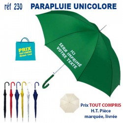 PARAPLUIE UNICOLORE AUTOMATIQUE REF 230