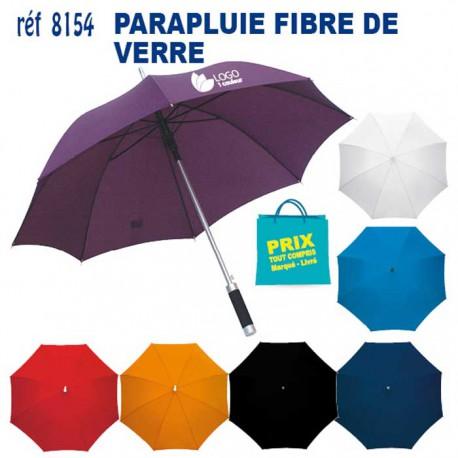 PARAPLUIE FIBRE DE VERRE COLOR REF 8154 8154 PARAPLUIE MANCHE DROIT 6,68 €
