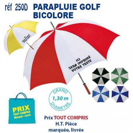 PARAPLUIE GOLF BICOLORE REF 250D 250D PARAPLUIE MANCHE DROIT 5,62 €
