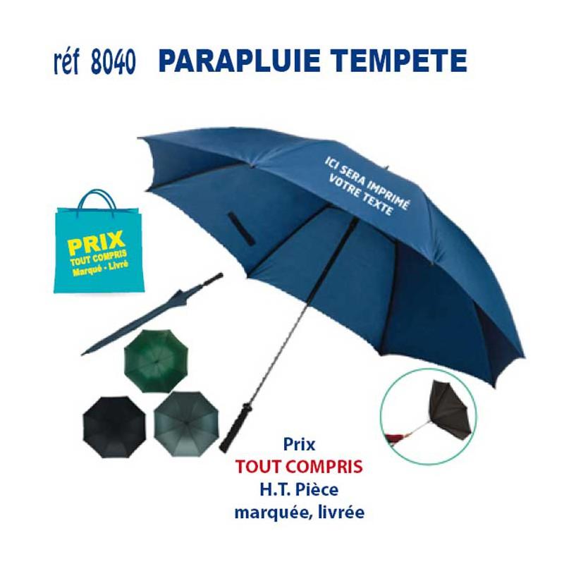 sélection premium 57033 69ce1 PARAPLUIE TEMPETE REF 8040