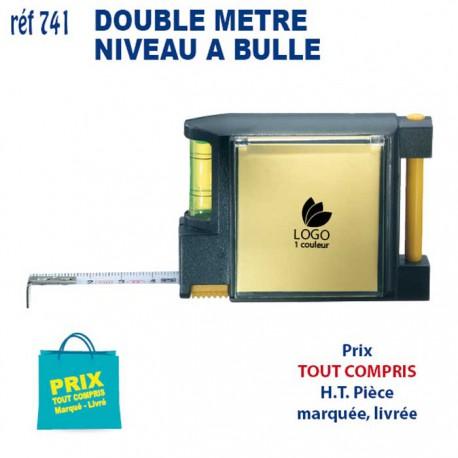 DOUBLE METRE MEMO NIVEAU A BULLE REF 741 741 OUTILS 1,23 €