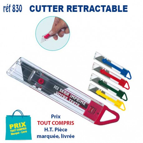 CUTTER RETRACTABLE REF 830 830 OUTILS 0,47 €