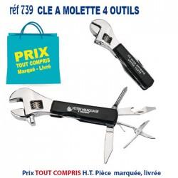 CLE A MOLETTE 4 OUTILS REF 739