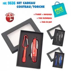SET CADEAU COUTEAU TORCHE REF 9636