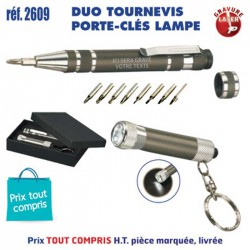 DUO TOURNEVIS PORTE CLES LAMPE REF 2609 2609 OUTILS 4,66 €