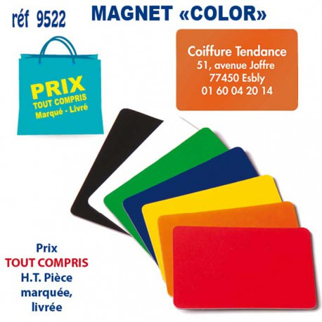 MAGNET COLOR REF 9522 9522 ARTICLES DIVERS 0,17 €