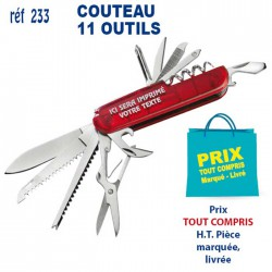 COUTEAU 11 OUTILS REF 233 233 ARTICLES DIVERS 1,93 €