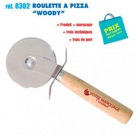 ROULETTE A PIZZA WOODY REF 8302 8302 ARTICLES PUBLICITAIRES POUR LA PIZZA PERSONNALISES  1,27€