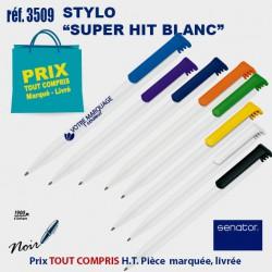STYLO SUPER HIT BLANC REF 3509 3509 Stylos plastiques 0,22 €