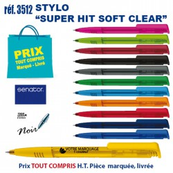 STYLO SUPER HIT SOFT CLEAR REF 3512 3512 Stylos plastiques 0,26 €