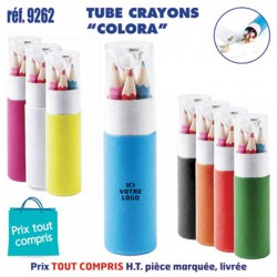 TUBE CRAYONS COLORA REF 9262