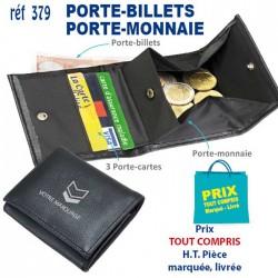 PORTE BILLETS PORTE MONNAIE REF 379 379 PORTEFEUILLE - PORTE BILLETS 0,90 €