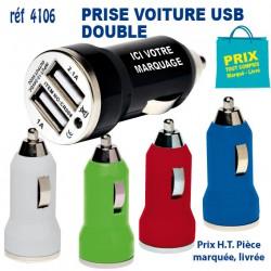 PRISE VOITURE USB DOUBLE REF 4106 4106 BATTERIE DE SECOURS - CHARGEUR 1,37 €