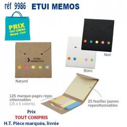 ETUI MEMOS REF 9986 9986 bloc notes - bloc mémos 0,46 €