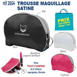 TROUSSE A MAQUILLAGE SATINE REF 2654 2654 TROUSSES 0,81 €