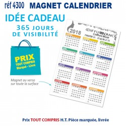 MAGNET CALENDRIER REF 4300 4300 ARTICLES DIVERS 0,51 €