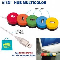 HUB MULTICOLOR REF 9861 9861 HUB ET DIVERS USB 3,98 €