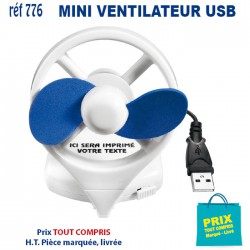 MINI VENTILATEUR USB DE BUREAU REF 776 776 HUB ET DIVERS USB 1,96 €