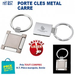 PORTE CLES METAL CARRE REF 857