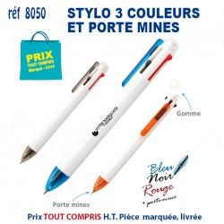 STYLO 3 COULEURS ET PORTE MINE REF 8050