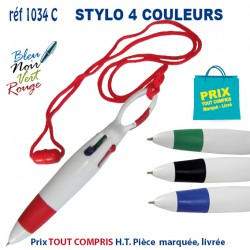 STYLO 4 COULEURS REF 1034C