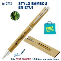 STYLO BAMBOU EN ETUI REF 3743 3743 Stylos Bois, carton, recyclé 1,89 €
