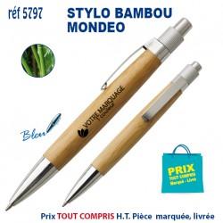 STYLO BAMBOU MONDEO REF 5797 5797 Stylos Bois, carton, recyclé 0,82 €