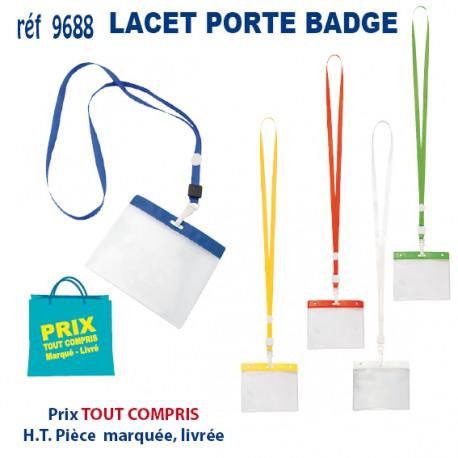 LACET PORTE BADGE REF 9688 9688 lacet tour de cou 0,30 €