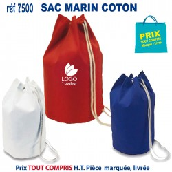 SAC MARIN COTON REF 7500 7500 SAC A DOS 3,47 €