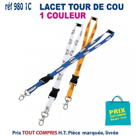 LACET TOUR DE COU 1 COULEUR REF 980 1C 980 1C lacet tour de cou 0,72 €