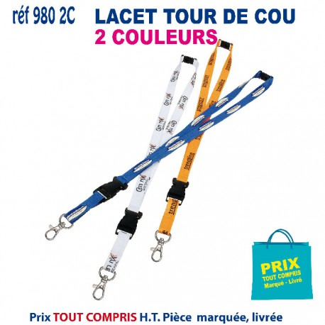 LACET TOUR DE COU 2 COULEURS REF 980 2C 980 2C lacet tour de cou 0,78 €