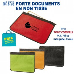 PORTE DOCUMENTS EN NON TISSE REF 3733 3733 SACOCHES - PORTE DOCUMENTS 1,09 €