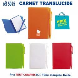 CARNET TRANSLUCIDE REF 5015
