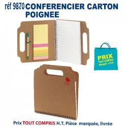 CONFERENCIER CARTON POIGNEE REF 9870 9870 conférenciers 2,58 €