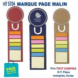 MARQUE PAGE MALIN REF 5704 5704 bloc notes - bloc mémos 0,48 €