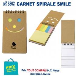 CARNET SPIRALE SMILE REF 5802 5802 Carnet 0,85 €