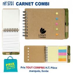CARNET COMBI REF 5701 5701 Carnet 0,88 €