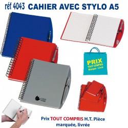 CARNET CAHIER AVEC STYLO A5 REF 4043