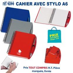 CARNET CAHIER AVEC STYLO A6 REF 4044